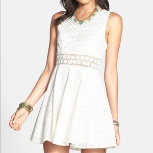 Free People Daisy Lace Fit & Flare Dress